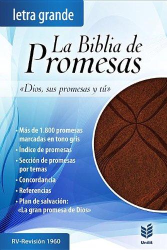 BIBLIA DE PROMESAS RV60 - LETRA GRANDE - PIEL - CAFÉ