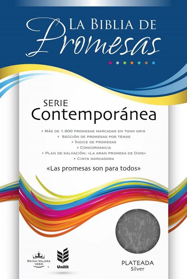 La Biblia de Promesas RVR60 - Serie Contemporánea - Piel especial plateada
