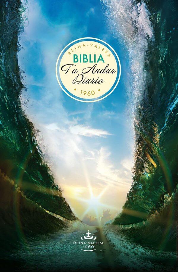 BIBLIA TU ANDAR DIARIO RV60 PIEL ESP. AZUL MARINO
