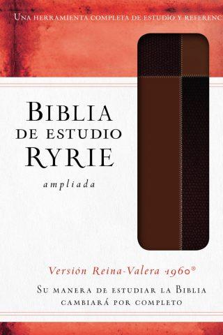 BIBLIA DE ESTUDIO RYRIE RV1960 AMPLIADA MARRON
