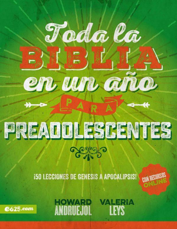 TODA LA BIBLIA EN UN AÑO - PREADOLESCENTES