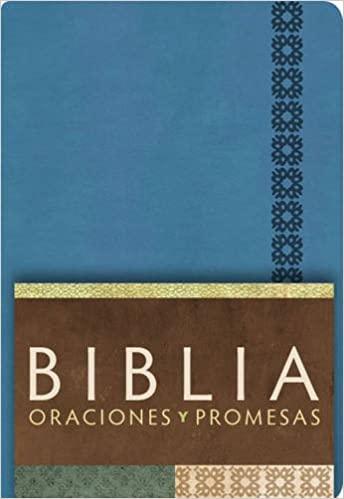 BIBLIA RVC ORACIONES Y PROMESAS-AZUL COBALTO SIMI.PIEL