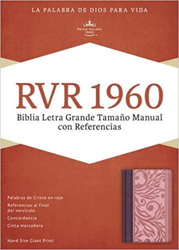 Biblia Letra Grande Tamaño Manual Borravino/Rosado Símil Piel - RVR 1960
