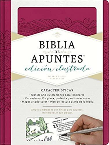 BIBLIA DE APUNTES ROSADO RVR 60