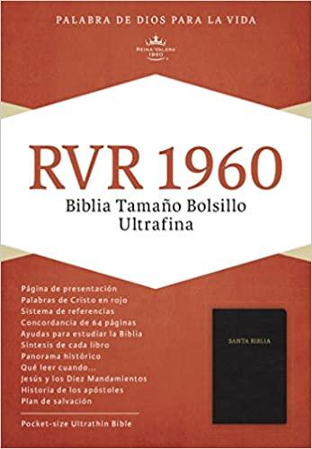 RVR 1960 BIBLIA ULTRAFINA TAMANO BOLSILLO