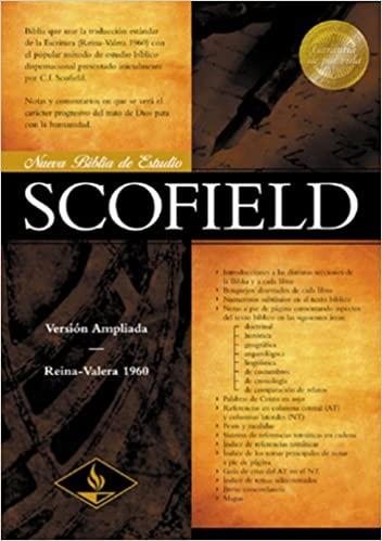 BIBLIA DE ESTUDIO SCOFIELD RVR 1960 ROJIZO