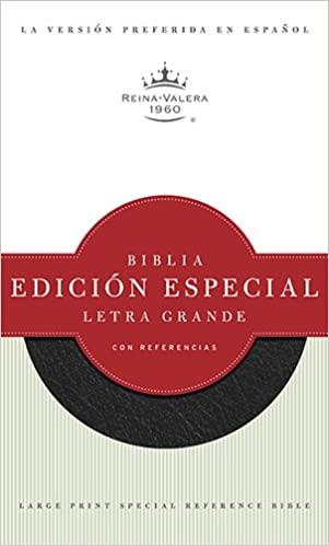 BIBLIA RVR 1960 LG ED.ESP/REF.NEGRO PIEL FABRICADA