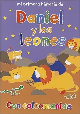 MI PRIMERA HISTORIA DE DANIEL Y LOS LEONES CON CALCOMANIAS