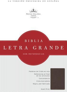 BIBLIA RVR1960 LG C/REF.CHOCOLATE OSCURO SIMIL PIEL