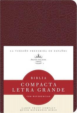 BIBLIA COMPACTA LETRA GRANDE CON REFERENCIAS-COLOR BORGOÑA