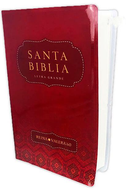 SANTA BIBILIA LETRA GRANDE COLOR ROJO RV60