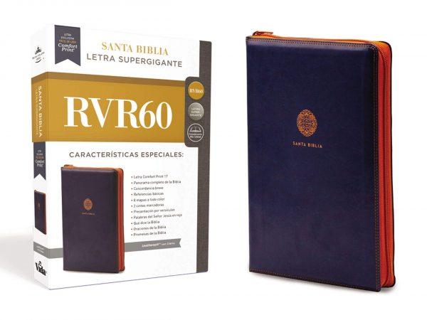 SANTA BIBLIA SUPER GRANDE RVR 60  CON CIERRE AZUL