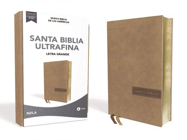 BIBLIA ULTRAFINA LAS AMERICAS LETRA GRANDE BEIGE